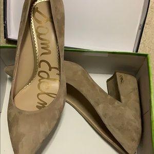 New in box Sam Edelman suede block heels